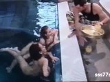 French Teen Pool Orgy