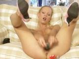Blonde Teen Masturbates With Her Dildo