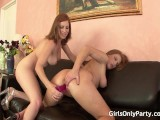 Two Hotties Enjoying Rough Sex On The Couch