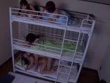 Different Girls Fuck In Different Three Bunk Beds