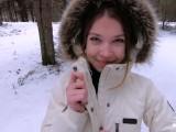 I Love Quick Sex Outdoors Even In Winter – Cum On My Pretty Face POV