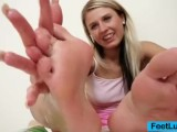 Smoking-hot Blondie Young Miss Kelly Candy Foot Fetish