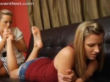 FOOT LOVIN' BABYSITTER CAUGHT AND SEDUCED