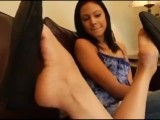 Sexy Teen Has A Foot Fetish