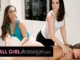Lesbian MILFs Sit On Abella Dangers Face