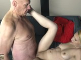 Horny Grandpa Fingers Teen Pussy Cums On Her Face