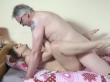 Horny Teen Rides Grandpa Cock Then Sucks It Deepthroat