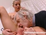 Nelya Is Fucked Deeply In Her Tight Teen Ass By Horny Old Man