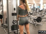 Young Fitness Girl Workout And Boobs