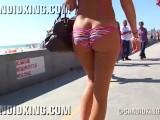 Young Bubble Butt PAWG Walking In Bikini!