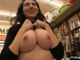 Busty Teen Flashing In Walmart
