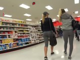 Candid 2 Teens In Leggings
