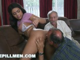 BLUE PILL MEN – A Couple Of Old Men Have Fun With Young Aaliyah Hadid