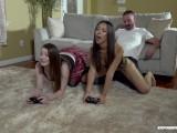 GAMER GIRL FUCKS FRIEND'S DAD