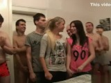 Two Czech Girls,Veronika And Adela Satisfy Horny Guys On Amateur Gangbang.