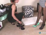 Girl And Saleswoman Shoestore Footfetish Tease