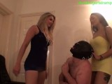 2 Hot Girls Trample Slave With Heels HARD