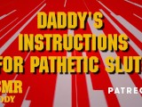 Daddy's Masturbation Instructions For Pathetic Sluts – Dirty Audio