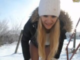 Blonde Webcam Girl Squirts In The Snow
