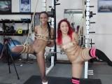 Sarah Lace / Chanel Skye Bondage Naked Girls Petite Small Tits Black Latina